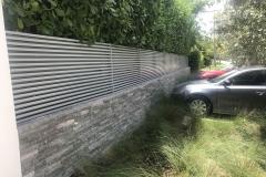 modern fence horizontal galvanized aluminum tubing