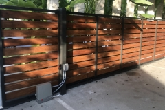 modern gate horizontal metal and wood design