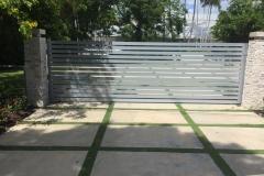 modern gate horizontal galvanized aluminum tubing
